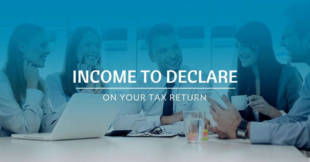 Tax Return - Income to declare on tax return?