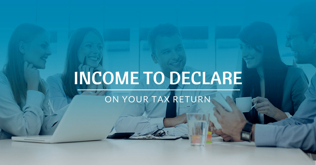 Tax Return - Income to declare on tax return?